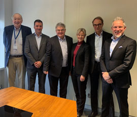 Tom Huges, Philip Duffy and Henry Brankin from Viritual Access together with Jenny Sjödahl, Per Samuelsson and Joakim Laurén from Westermo and Beijer Group.