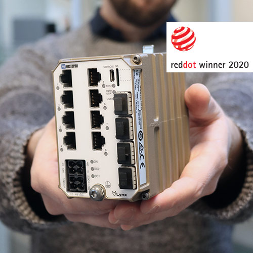 Westermo Lynx 5512 awarded the Red Dot Product Design Award 2020.