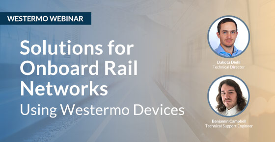 Webinar on solutions for onboard rail networks.