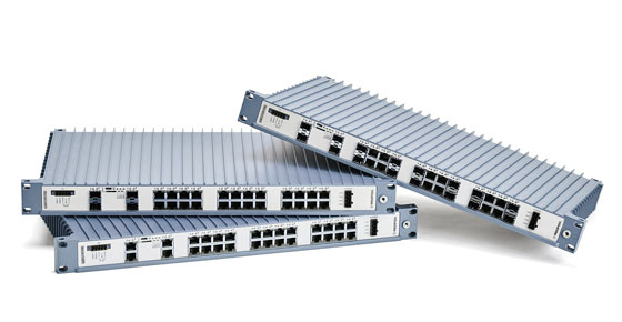 Westermo RedFox series industrial 19 inch rackmount switches.