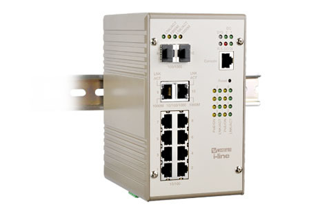 Managed PoE Gigabit Switch with 8 PoE ports, PMI-110-F2G by Westermo.